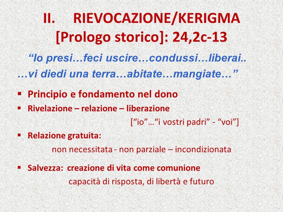 II. RIEVOCAZIONE/KERIGMA [Prologo storico]: 24,2c-13